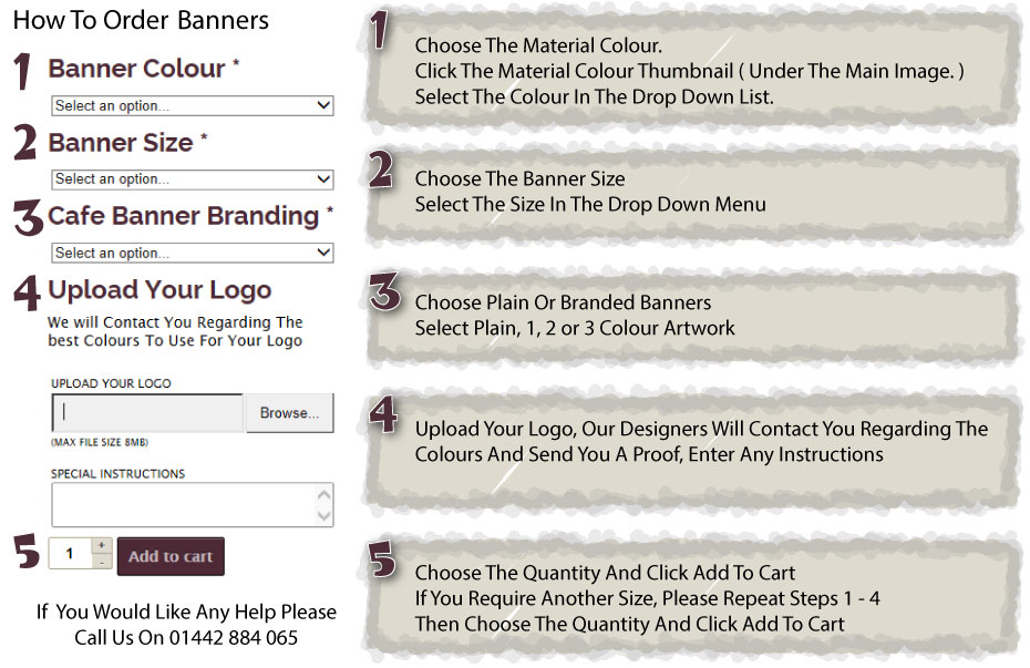 How To Order Canvas Cafe Banners