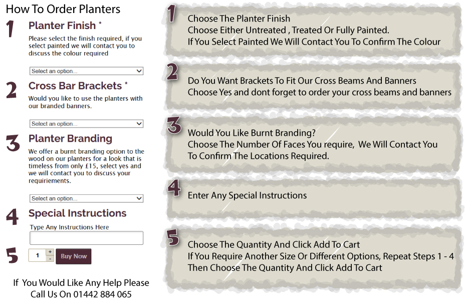 How To Order Premium Wooden Planters