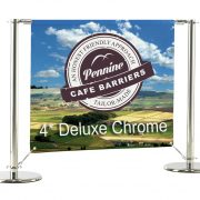 Cafe Barriers and Cafe Banners From Pennine Cafe Barriers - 4* Deluxe Black Cafe Barrier System 5