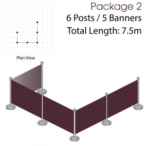 Cafe Barriers and Cafe Banners From Pennine Cafe Barriers Cafe Barrier Deluxe Bundle 2