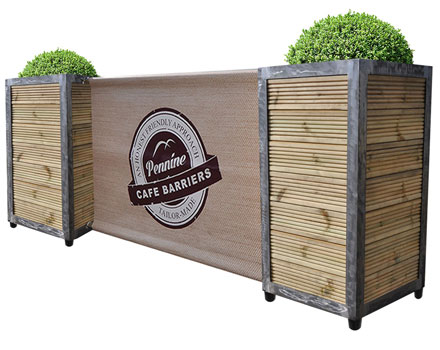Cafe Barriers and Cafe Banners From Pennine Cafe Barriers - industrial-planters