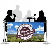 Cafe Barriers and Cafe Banners From Pennine Cafe Barriers - Premium Digital Printed Full Colour Mesh PVC Banner