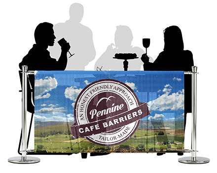 Cafe Barriers and Cafe Banners From Pennine Cafe Barriers - PVC MESH BANNERS