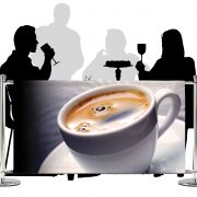 Cafe Barriers and Cafe Banners From Pennine Cafe Barriers - Premium Digital Printed Full Colour PVC Banner 2