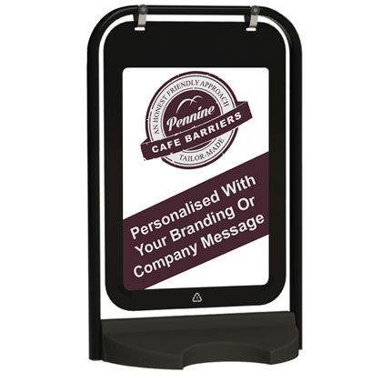 Cafe Barriers and Cafe Banners From Pennine Cafe Barriers - Poster Swinger