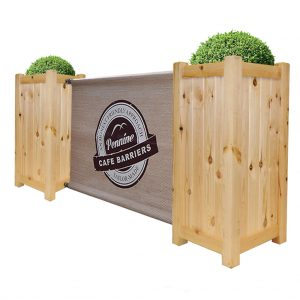 Cafe Barriers and Cafe Banners From Pennine Cafe Barriers Premium Wooden Cafe Planter 1